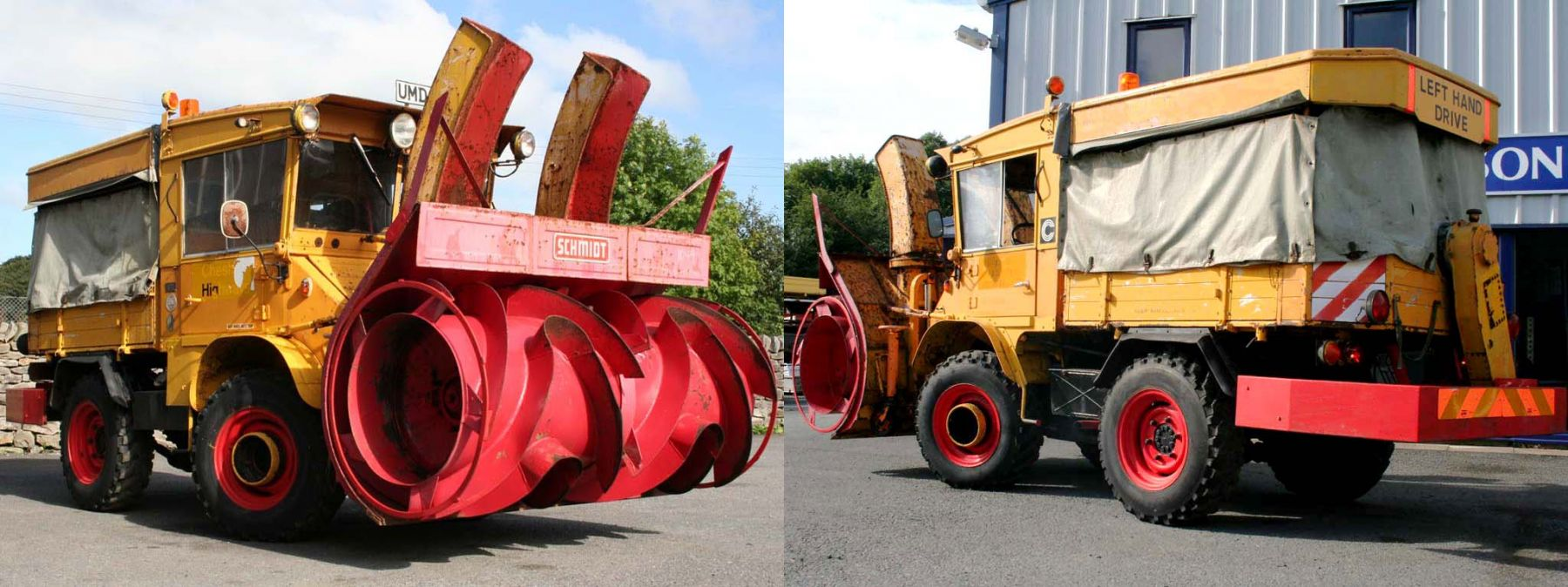 Vintage U411 Snow Blower Exported to North America