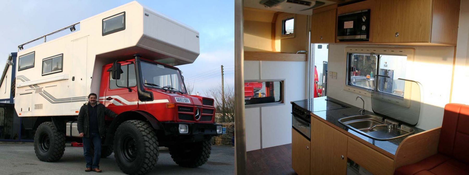 Huge U1300l Camper Given the Av Makeover