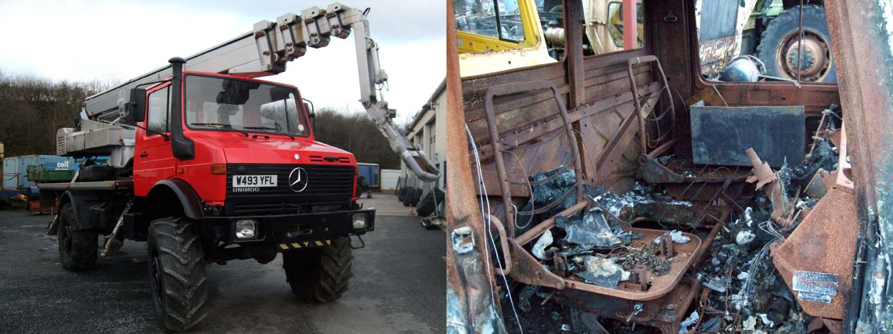 Cab Refurbishment After Fiery Blaze