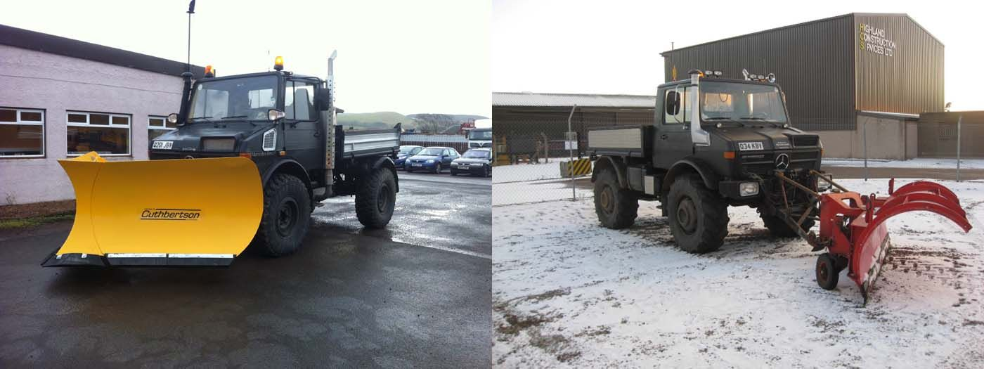 This is How to Do Unimog Snowploughs