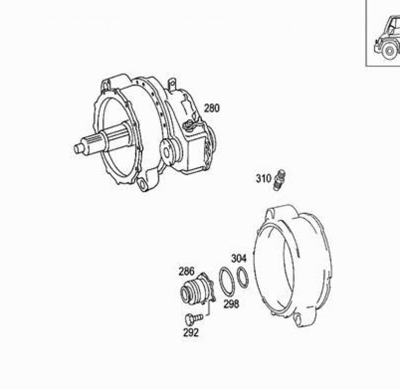 GENUINE MERCEDES RELEASE BEARING